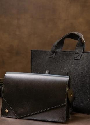 Женская стильная сумка из натуральной кожи