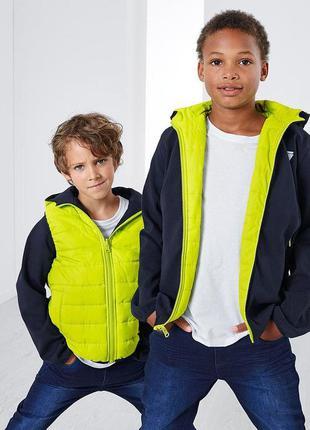 Стильная модная двойная деми куртка tchibo германия р. 134-140 и 146-152