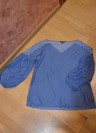 Нарядная блуза massimo dutti-100% лиоцел