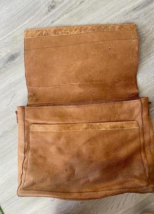 Большая сумка 100% кожа буйвола новая без ручки