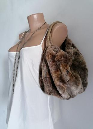 🍁меховая сумка - ведро в стиле jil sander 🍁сумка тоут 🍁маленькая сумка