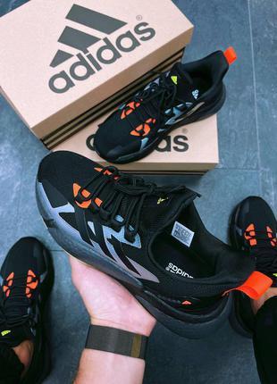 Мужские кроссовки adidas x9000l4 black violet