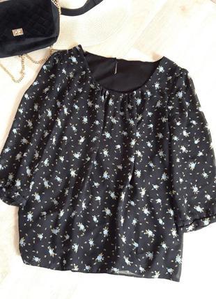 Блузка кофточка футболка рубашка майка цветочный принт zara h&m bershka primark asos next