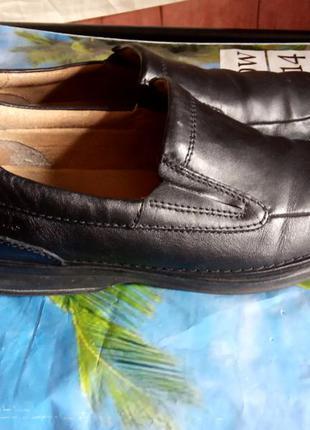Кожаные туфли clarks,размер 45.
