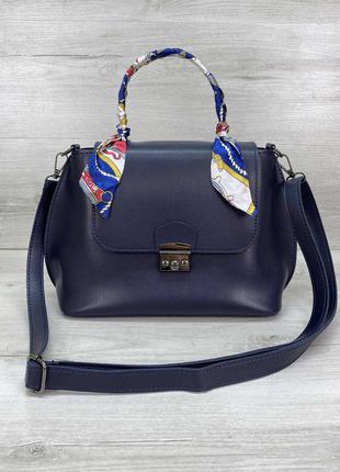 Женская сумка. жіноча сумка (темно синя)