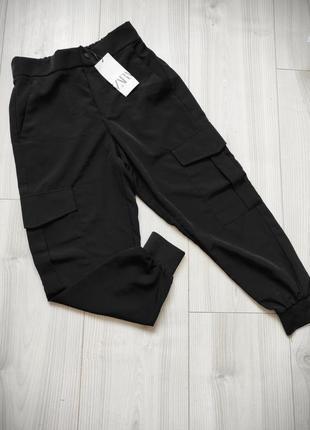 Джогеры zara, штаны карго zara, брюки, штани джогери зара