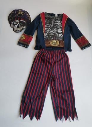 Карнавальный костюм на хэллоуин пират зомби скелет разбойник