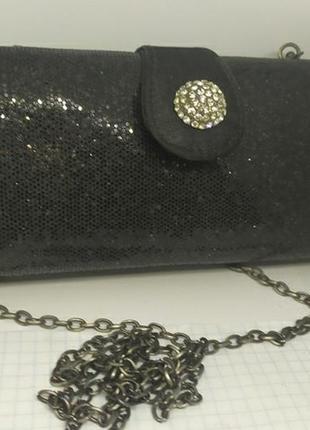 Вечерняя сумочка клатч на длинной цепочке. accessorize. 17,5х4х8,5см