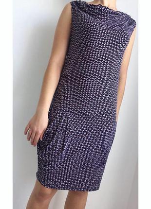 Платье, рюш, сукня до колін, фиолетовое платье, летнее платье rosapois mare, горошек.