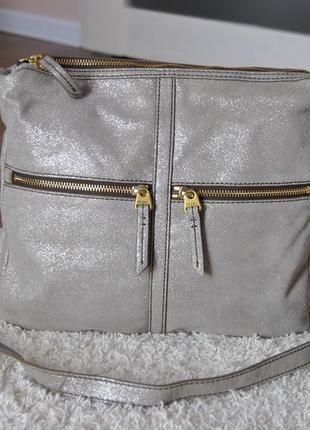 Кожаная сумка fossil / шкіряна сумка