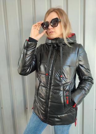Женская демисезонная куртка-трансформер в жилет лора