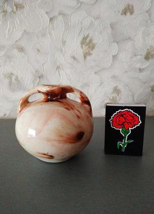 Маленькая вазочка для декора обливная керамика 7см