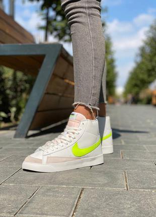 Женские высокие кожаные кроссовки nike blazer #найк
