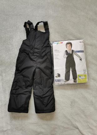 Тёплые штаны lupilu термо штаны зимние штаны 86/92 полукомбинезон