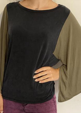 Очень интересная кофточка/ блуза с широкими рукавами zara