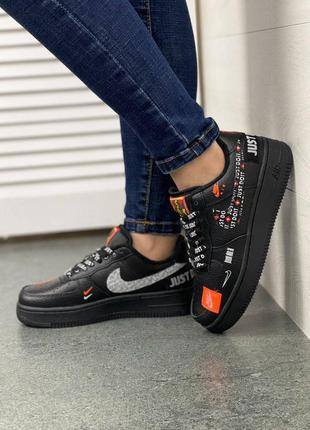 Женские кроссовки nike air force off-white all black