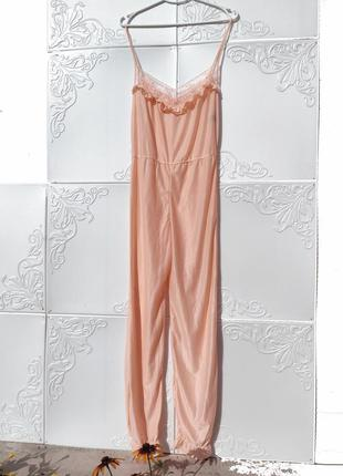 Нежная комбинация комбинезон розово персикового цвета michele nachtwäsche