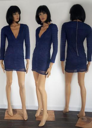 Нежное кружевное короткое платье. missguided. размер s.