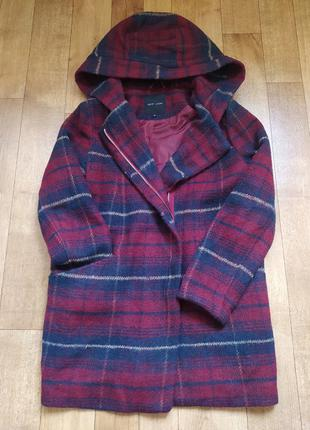 Пальто, пальто клетка, шерстяное пальто
