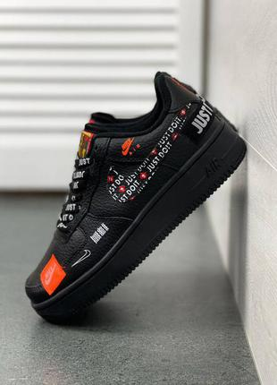 Женские кроссовки nike air force off-white all black р.36-41