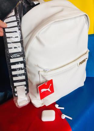 Шикарный белый рюкзак puma❤️😍  оригинал!🔥