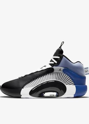 Кроссовки мужские air jordan 35 morpho черные/синие (найк аир джордан морфо, кроссівки)