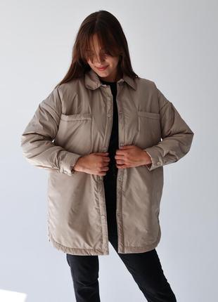Куртка, курточка-рубашка, оверсайз курточка, три цвета