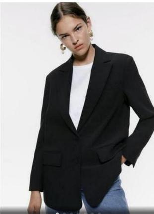 Zara трендовый пиджак оверсайз