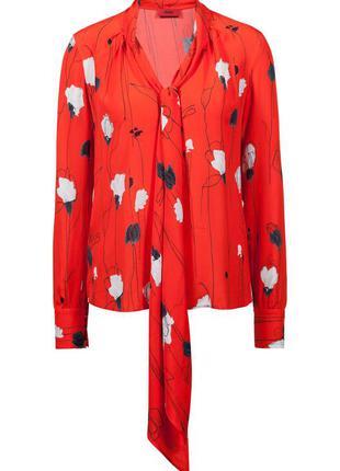 Легкая блуза hugo boss в цветочный принт/рубашка boss