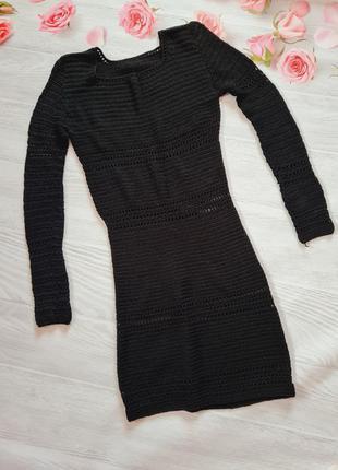 Оригінальне вязане плаття ручної роботи.