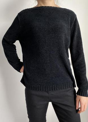 Черная кофта, свитшоты marks&spencer, черный свитер стильный.