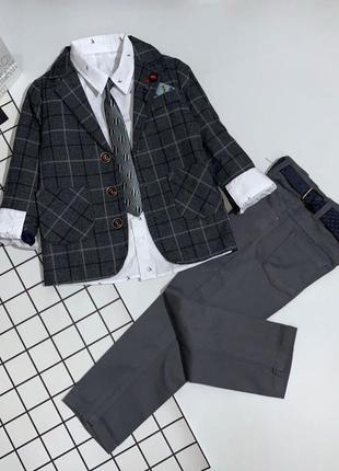 Шикарный костюм 5ка для мальчиков 110-128(внимание!в описании 4 цены)