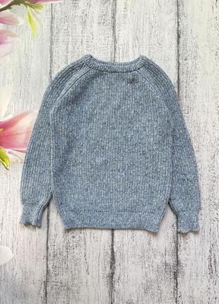 Крутая вязаная котон кофта свитер next 7лет