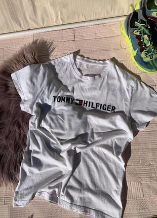 Белая футболка tommy hilfiger томми хилфигер томи майка том