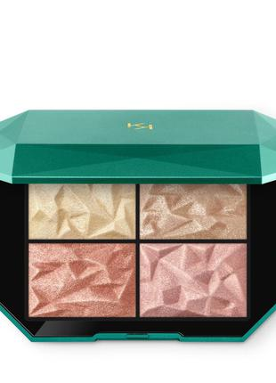 Палитра для лица и глаз holiday gems glow palette от kiko milano