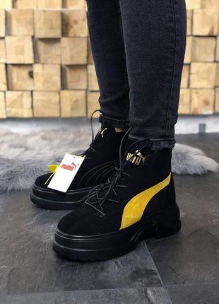 Puma spring boots black ботинки сапоги кроссовки
