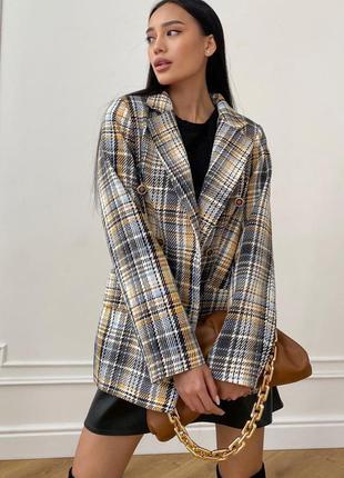 Пиджак на подкладке версаль жёлтый jadone fashion