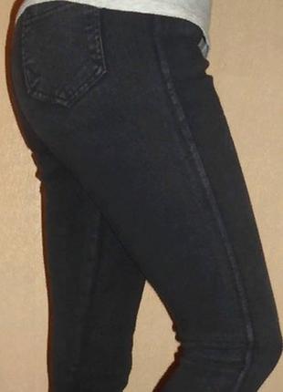 Повседневные джинсы джеггинсы леггинсы  на флисе