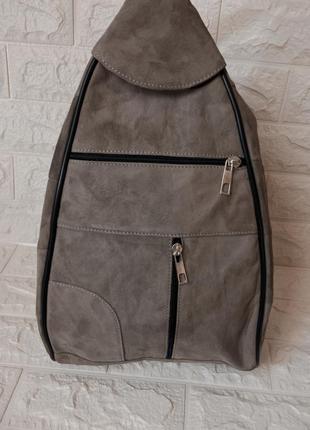 Рюкзак замшевый замш кожаный кожа сумка-рюкзак рюкзак-сумка трансформер универсальный