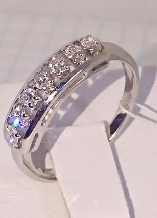 Кольцо каблучка семёрка бриллиант діамант 0,30ct белое золото 585 17р