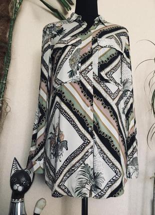 🔥шикарная🔥 фирменная рубашка блуза испания  stradivarius