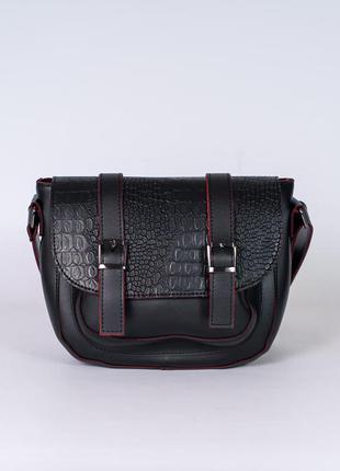 Модная маленькая сумочка черная кросс боди через плечо мини сумка овальная с клапаном