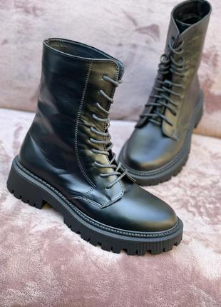 Топ ботинки, натуральная,  мягкая кожа, 36-41р