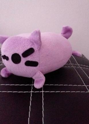 Мягкая игрушка котик пушин кот фиолетовый