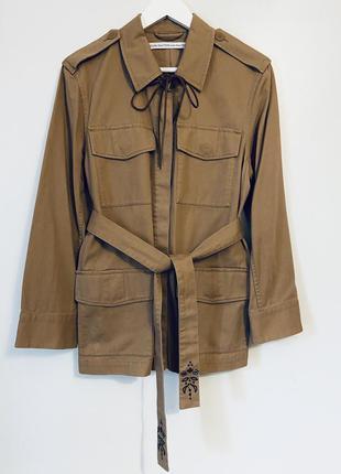 Стильная куртка/рубашка/жакет с вышивкой и накладными карманами от & other stories