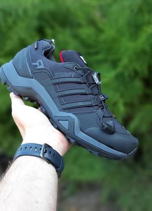 Мужские черные кроссовки adidas terrex осень демисезон