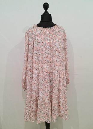 Шифоновое платье в цветы h&m