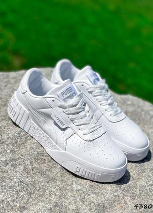 Белые кожаные кроссовки кали