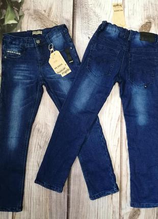 Утеплённые джинсы, с флисовой подкладкой
