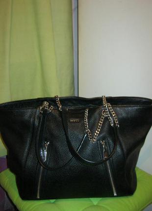 Dkny.индонезия! нат.кожа.оригинал, номерная. сумка шоппер. дешево!